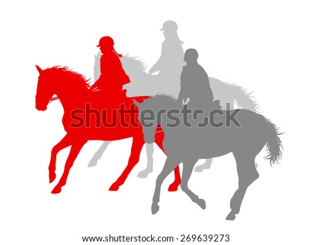 Horse riding winner vector background concept isolated over white