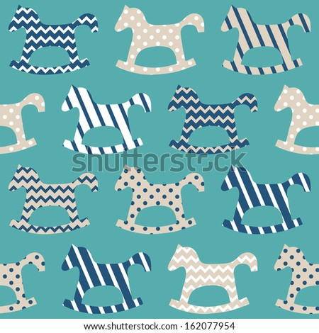 horse seamless pattern  - stock vector