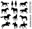 horse set - stock vector