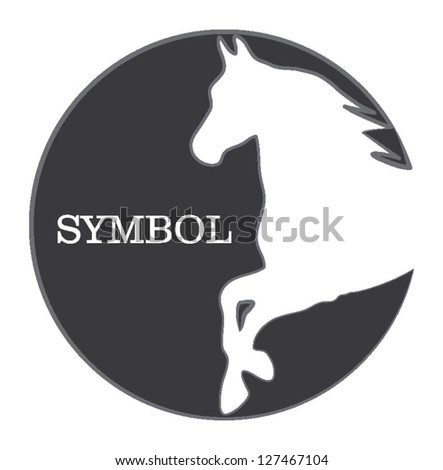 horse silhouette symbol - stock vector