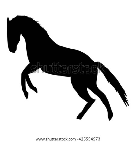 horse silhouette - vector illustration