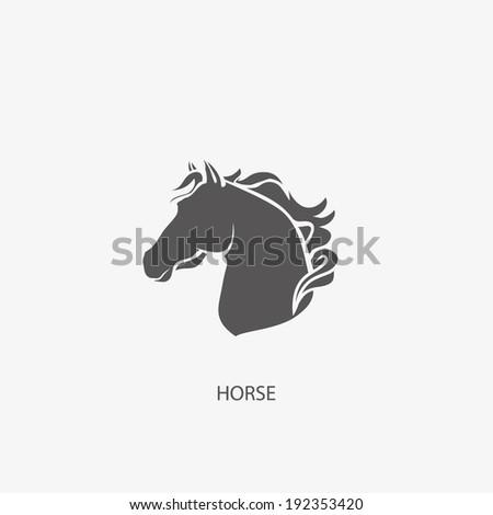 HORSE symbol illustration vector - stock vector