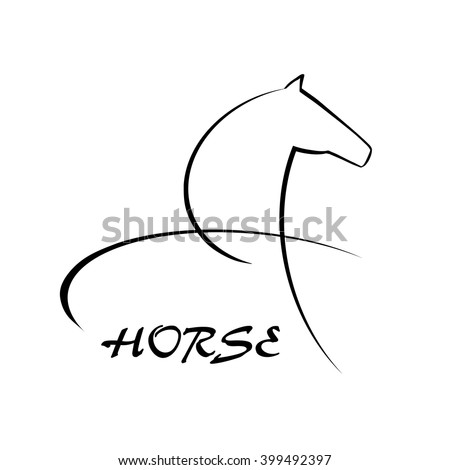 Horse symbol vector. Abstact symbol. Corporate icon.