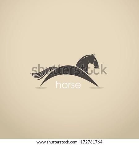 Horse symbol - vector illustration - stock vector