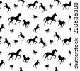 horses seamless pattern - stock vector