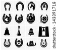 Horseshoe Collection - stock vector