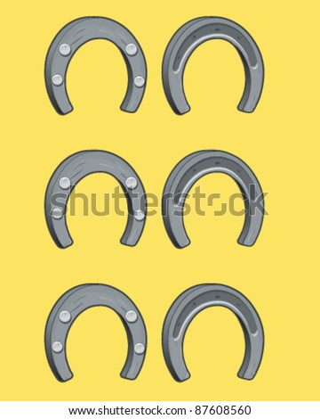 Horseshoe isolated - stock vector
