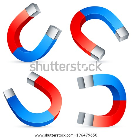 Horseshoe magnets. - stock vector