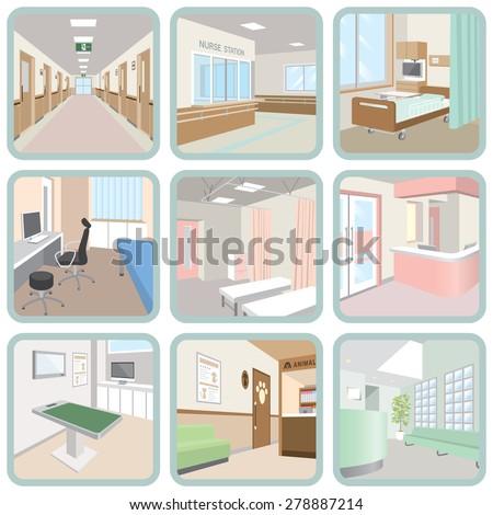 Hospital - stock vector