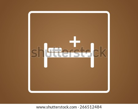 Hospital bed icon, vector illustration. Flat design style - stock vector