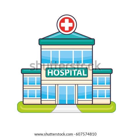 Hospital building vector isolated vector de stock607574810 shutterstock hospital building vector isolated malvernweather Images