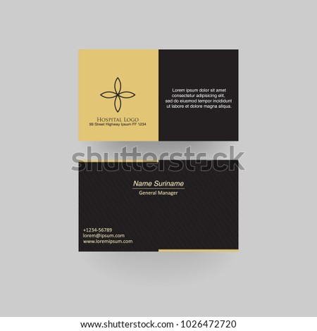 Hospital business card medical business card stock vector 1026472720 hospital business card medical business card template accmission Choice Image
