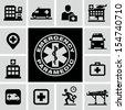 Hospital icons - stock photo