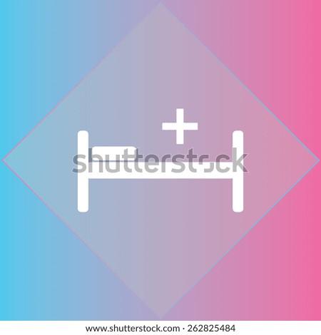 Hospital mark icon, vector illustration. Flat design style. - stock vector