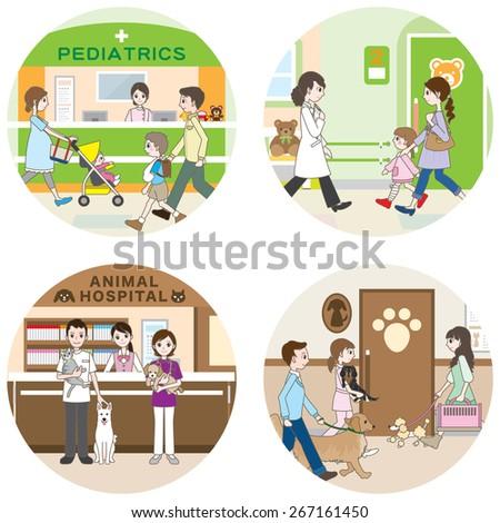 Hospital / Medical care - stock vector