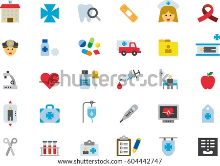 HOSPITAL & MEDICAL colored flat icons