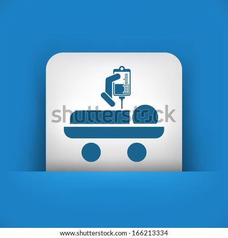 Hospital stretcher - stock vector