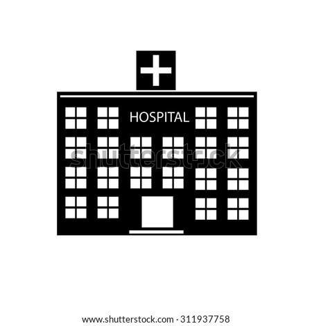 Hospital Icon Stock Ve...
