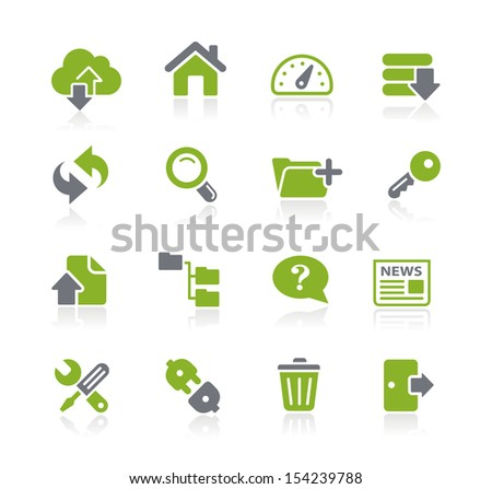 Hosting Icons // Natura Series - stock vector