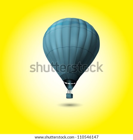 Hot air balloon flying at sunrise ( EPS10 vector )