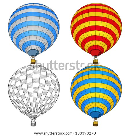 Hot Air Balloon for Transportation Concept, Vector Illustration EPS 10.