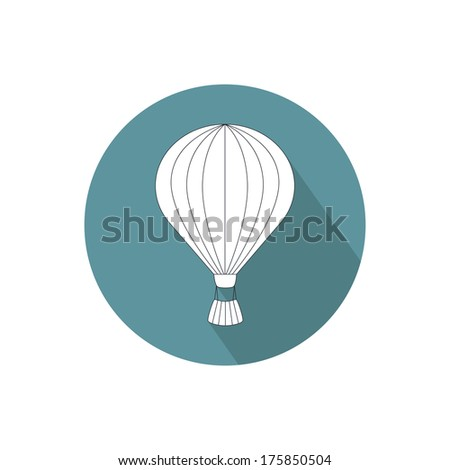 Hot air balloon icon. Vector illustration - stock vector