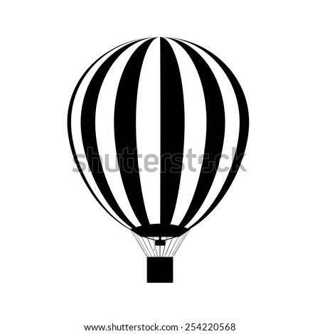 Hot air balloon in the sky. silhouette. Vector - stock vector
