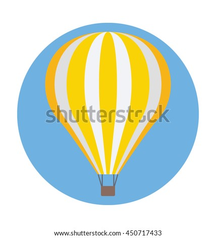 Hot Air Balloon Vector Icon