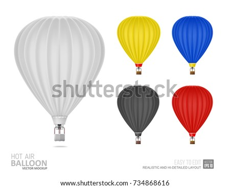 Hot Air Balloon White And Black Color