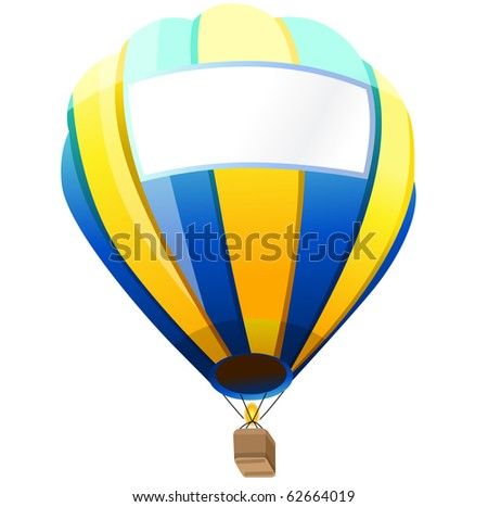 Hot Air Balloon with space for your text - stock vector