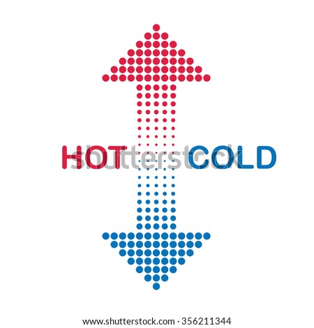 hot and cold arrows - stock vector