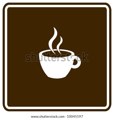 hot beverage in a cup sign - stock vector