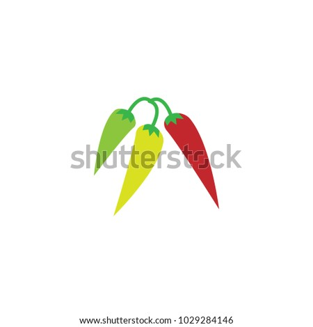 Hot Chili Pepper Graphic Template Vector Stock Vector 1029284146 ...