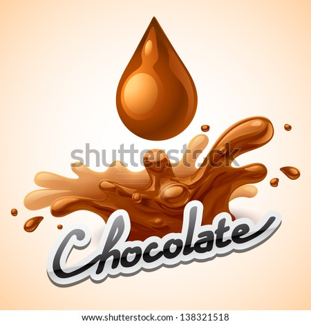 Hot chocolate splash - stock vector