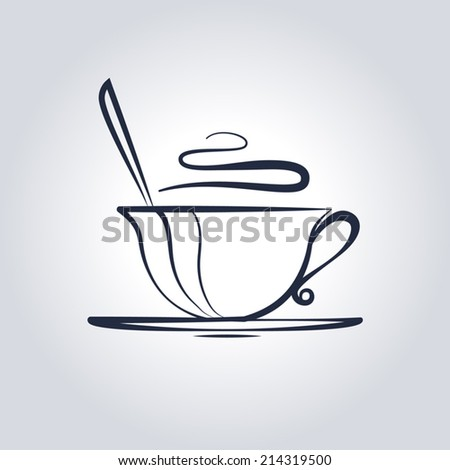 Hot coffee cup - stock vector