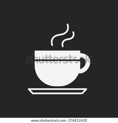 hot coffee icon - stock vector