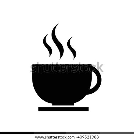 Hot Coffee Icon Illustration design - stock vector