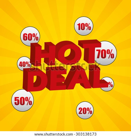 hot deal design, vector illustration eps10 graphic