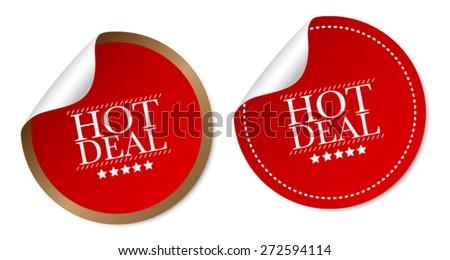 Hot deals stickers - stock vector