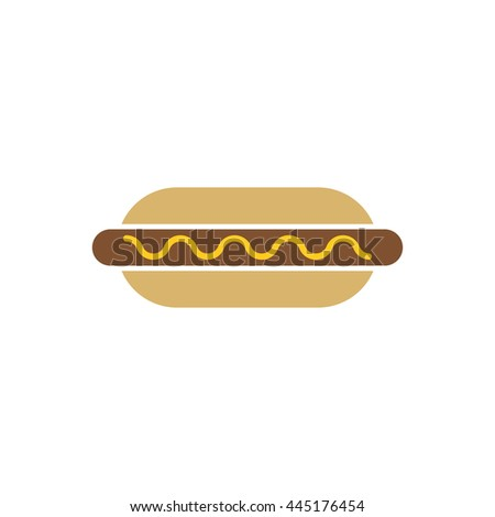 Hot Dog Vector Pictogram Icon Sign