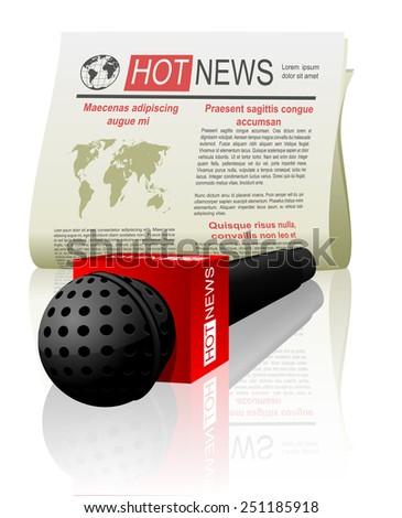 hot news web icon - stock vector