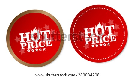 Hot price stickers - stock vector