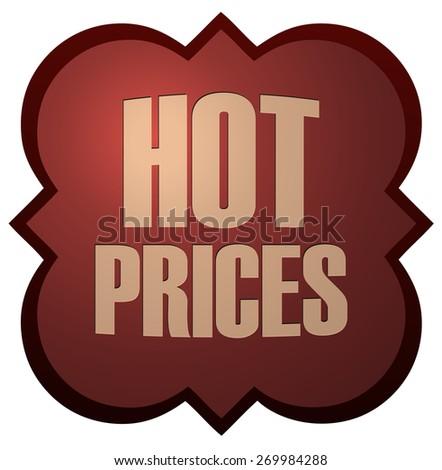 Hot Prices Retro Sticker, Vector Illustration.  - stock vector