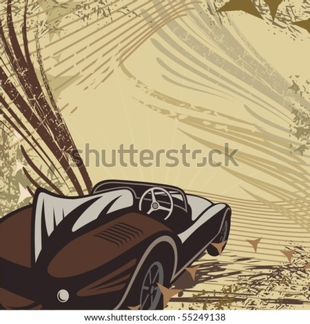Hot rod background with a car.