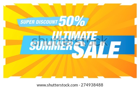 hot summer sale banner