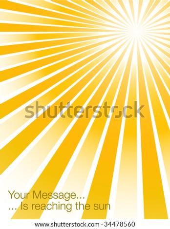 Hot sunburst - stock vector
