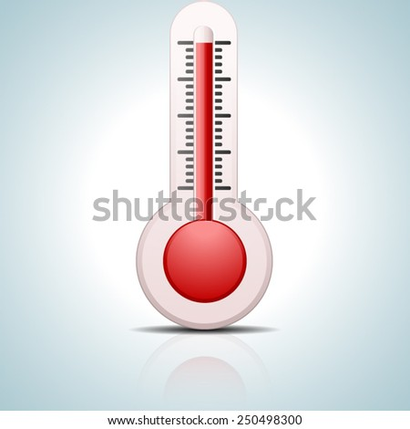 Hot Thermometer - stock vector
