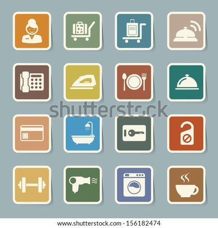 Hotel and travel icon set,Illustration eps10 - stock vector
