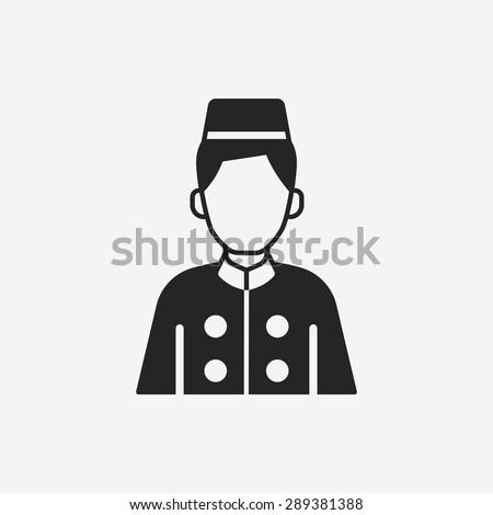 hotel bellman icon - stock vector