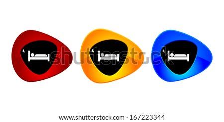 hotel button  - stock vector